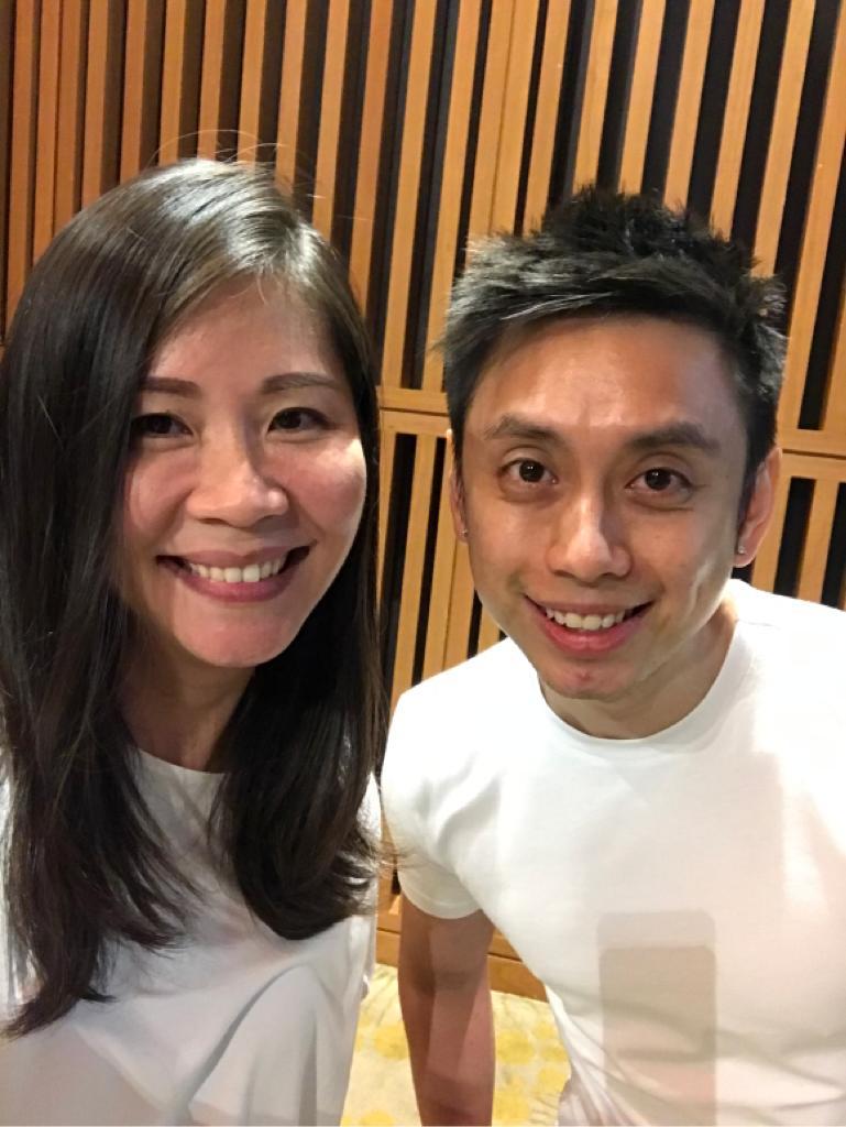 Tracy Ong Hui Jing with Peng Joon