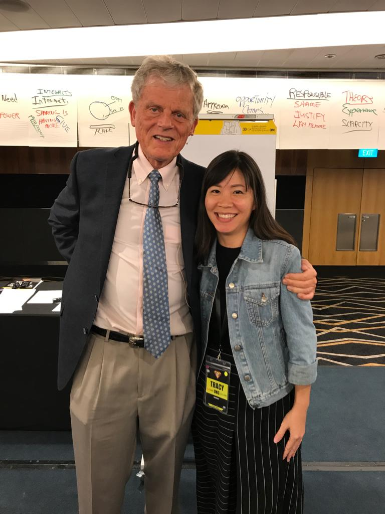 Tracy Ong Hui Jing with Marshall Thurber